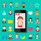 Mobile Social Media Royalty Free Stock Images