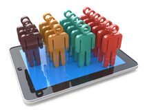 Mobile social media networking and client management growth conc Stock Photography