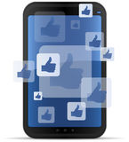 Mobile Social Networking. Concept illustration Royalty Free Stock Image