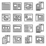 Mobile sortiert Benutzerschnittstellen-Ausrüstung aus Standort sortiert Schnittstelle aus lizenzfreie abbildung