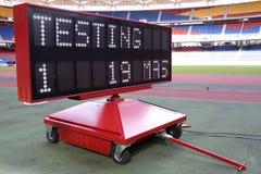 Mobile Stadium Scoreboard Royalty Free Stock Photo