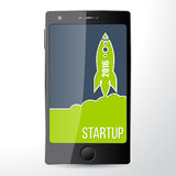 Mobile start up app Royalty Free Stock Photo