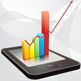 Mobile statistic Stock Photo
