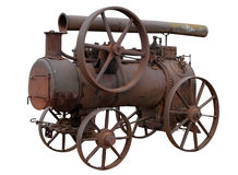 Mobile steam engine. Royalty Free Stock Photos
