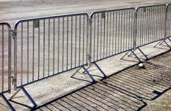 Mobile steel fence Stock Photo