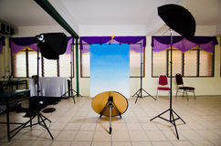 Mobile Studio. View of a mobile photo studio Royalty Free Stock Photo