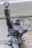 Mobile Suit Gundam Statue at Kami Igusa Station in Tokyo Royalty Free Stock Photo