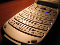 Mobile sullo scrittorio fotografia stock libera da diritti