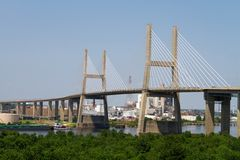 Mobile Suspension Bridge Royalty Free Stock Photo