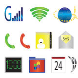 Mobile tablet icons Royalty Free Stock Photo