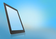 Mobile tablet with reflection under the base. Royalty Free Stock Photography