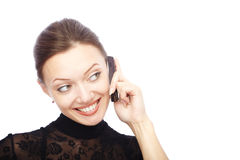 Mobile talk Royalty Free Stock Image