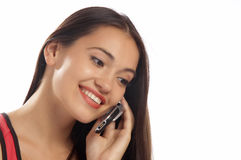 Mobile talk Stock Images