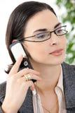 mobile talking woman Στοκ Εικόνες