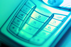 Mobile Tasten Stockfoto