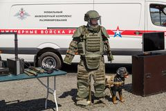 Mobile technical mine clearance complex stock photos