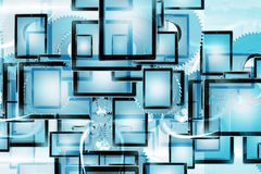 Mobile Technology Background Stock Photos