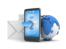 Mobile technology - cell phone Stock Images