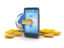 Mobile technology - cell phone stock illustration