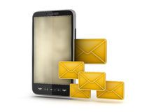 Mobile technology - abstract illustration Royalty Free Stock Photography