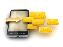 Mobile technology - Short Message Service (SMS) Stock Images