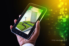 Mobile technology cityscape Royalty Free Stock Photography