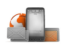 Mobile technology concept - cell phone Royalty Free Stock Images
