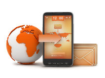 Mobile technology concept illustration Stock Photography