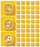 Mobile and technology icons,website icons Royalty Free Stock Photos