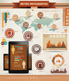 Mobile technology Infographics Stock Photo