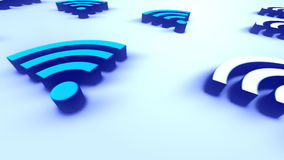 Mobile Technology Sign Wifi Loopable Background stock video