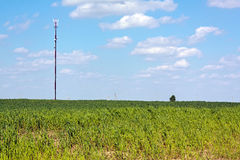 The mobile telecommunications station antenna Stock Photo