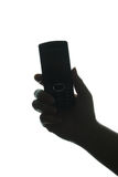 Mobile telephone in hand Royalty Free Stock Images