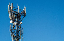 Mobile telephone mast Royalty Free Stock Photo
