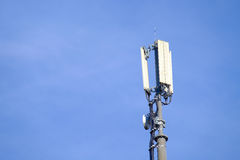Mobile telephony antenna Stock Photo