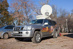 Mobile television station First Channel Stock Image
