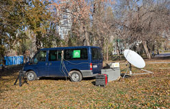 Mobile television station NTV (Russia) Royalty Free Stock Image