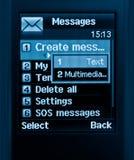 Mobile text message Stock Photos