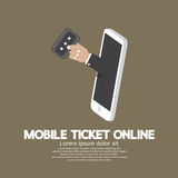 Mobile Ticket Online Concept Stock Image