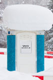 Mobile toilet covered Stock Photography
