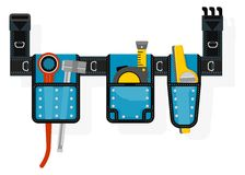 Mobile tool belt with tools Royalty Free Stock Photography
