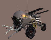 Mobile Tool Handler Left. Mars on-site construction assembly vehicle - left view Stock Images