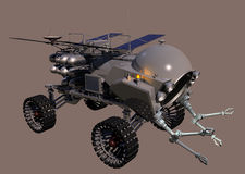 Mobile Tool Handler Right. Mars on-site construction assembly vehicle - right view Stock Photo