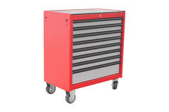 Mobile tool's trolley. Isolated under the white background Royalty Free Stock Photography