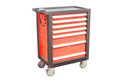 Mobile tool's trolley. Isolated under the white background Stock Photo