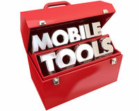Mobile Tools Mobility Connectivity Online Devices Words Stock Image