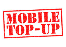 MOBILE TOP-UP Stock Photo
