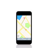 Mobile touch phone with Navigator interface on the screen Stock Photos