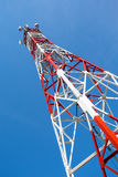Mobile tower communication antennas Stock Photos