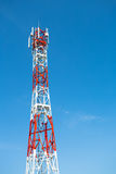 Mobile tower communication antennas Stock Images